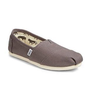 Toms Classic Slip-On Canvas Shoes Grey Size 6